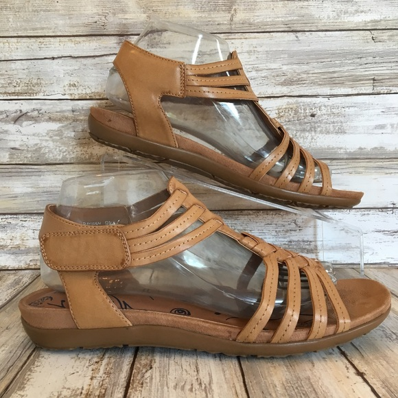 b027df7a8a8 BareTraps Shoes - BareTraps 9.5M Raygan Brown Gladiator Sandals.